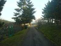 Cesta na zahradu v únoru 2008, Brno Soběšice
