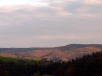 Osvětlené kopce, obrázek jak z Krakonoše, Listopad 2007