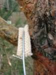 Podložení závěsného drátu, detail