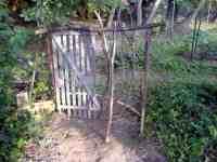 Přírodní recyklovaný plot - pohled zevnitř