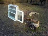 Stará okna na pařeniště