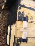 Budka pro brhlíky, detail zajištění zavírání klínky