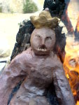 Magické pálení symbolického Krále: Lom pískovna Kaolín Rudice, 12.4.2008