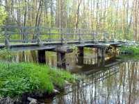 Dřevěný most nedaleko Rozvodí