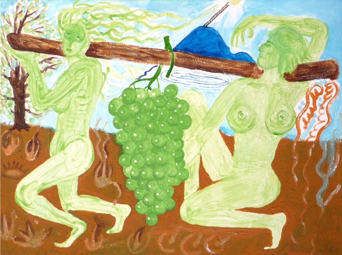 Jan Karpíšek: Wine I, watercolor on paper, 25,5 x 35 cm, 2007