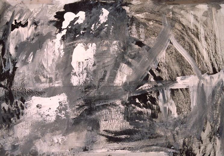 Jan Karpíšek: Composition, latex and ink on carton, 2002