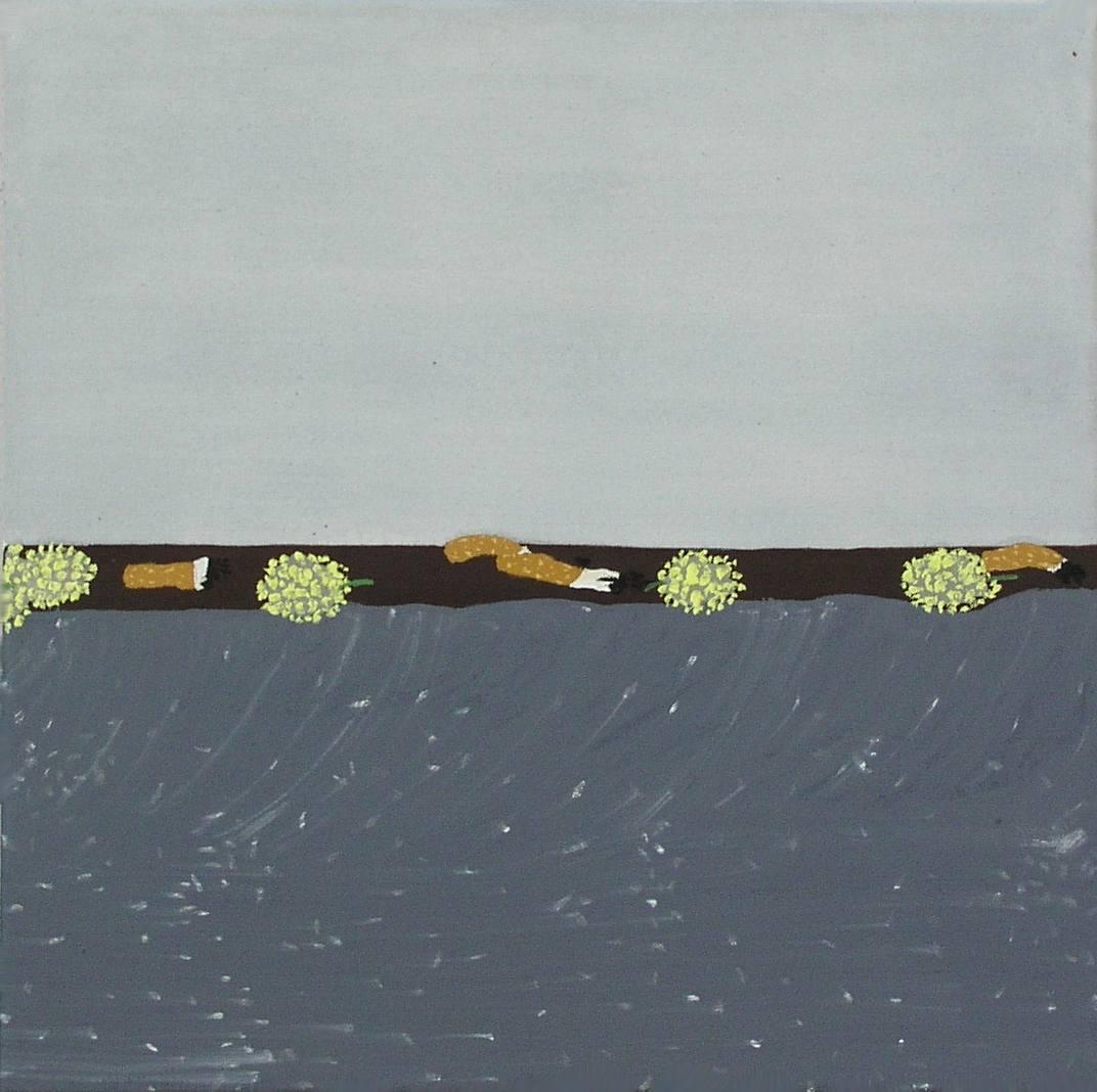 Duben na Lesnické, olej na plátně, 45x45 cm, 2005, soukromá sbírka