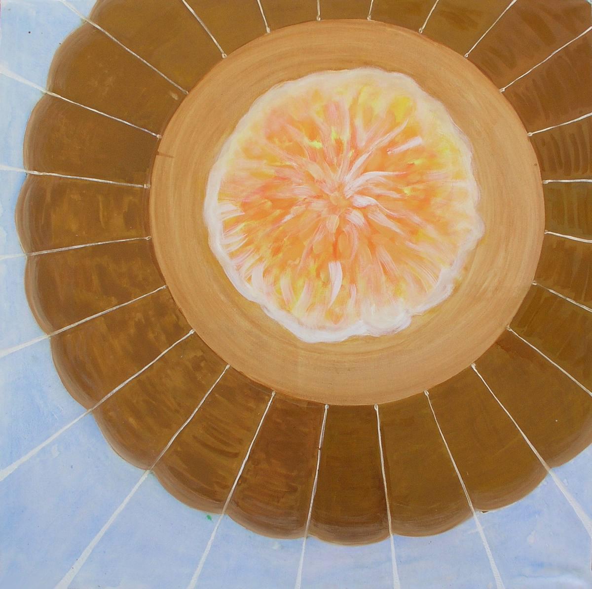 Balón mého života, olej na plátně, 195x195 cm
