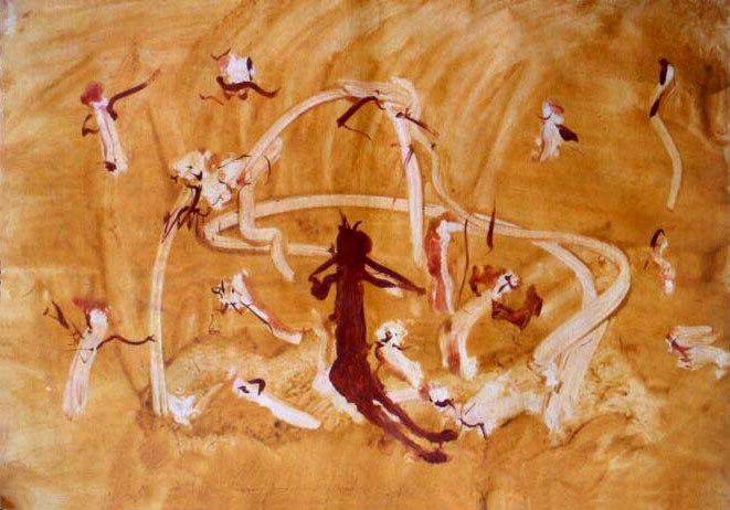 olej na papíře, 59x84 cm, 2001