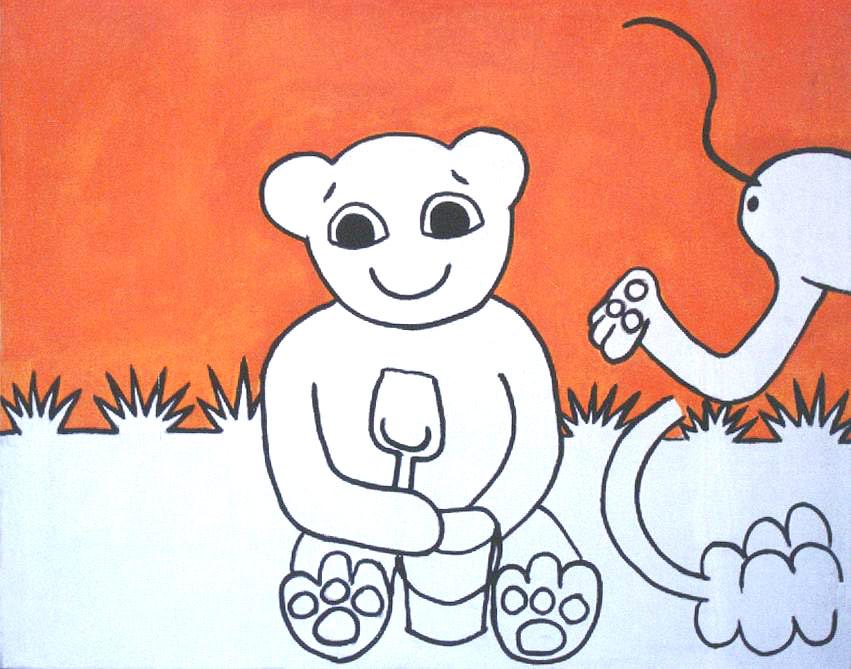 olej na plátně, 100x120 cm, 2001