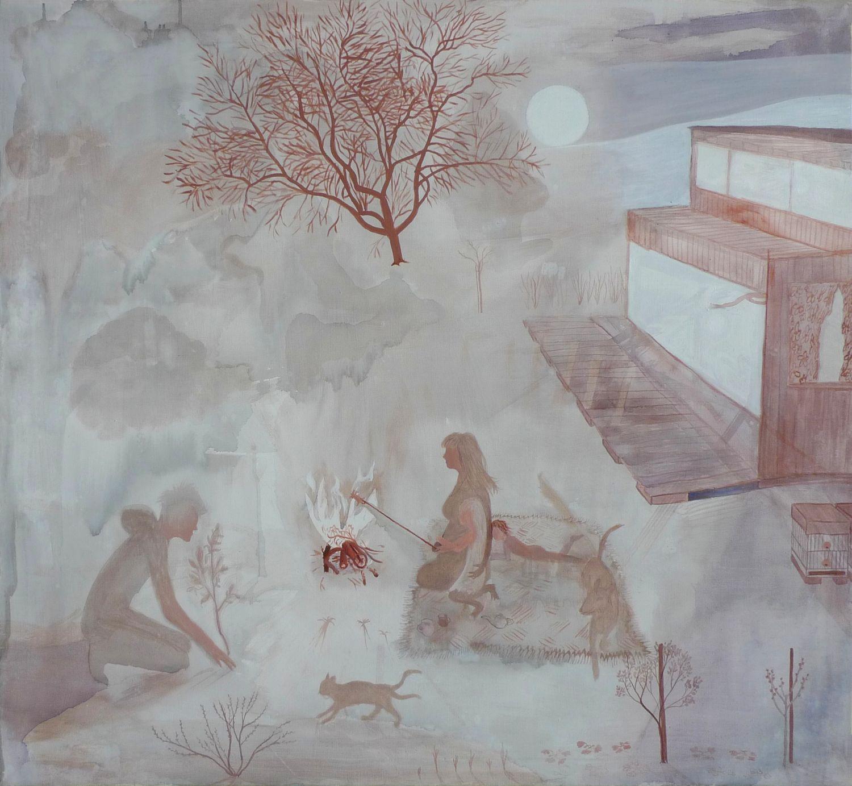akryl na plátně, 100x110 cm, 2015
