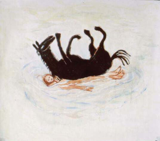 tempera na papíře, 55x63 cm, 2001