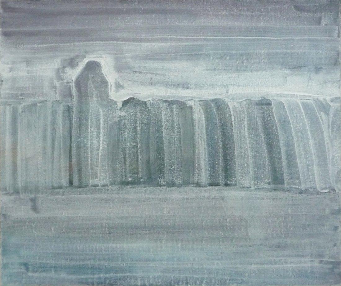 Jan Karpíšek: Hagazussa (One Who Sits on the Hedge), acryl on canvas, 55x65 cm, 2009