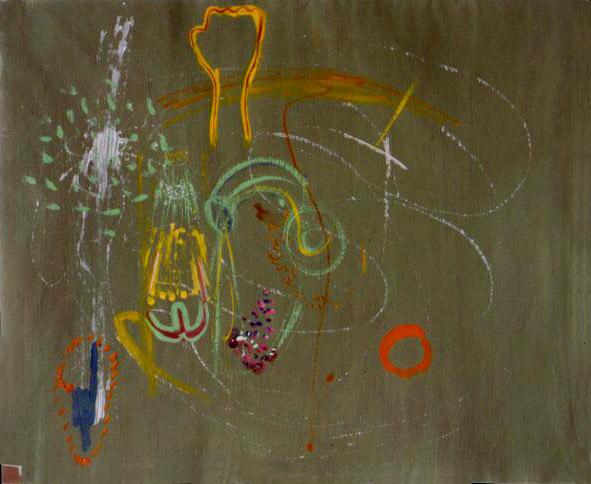 tempera na papíře, 51x63 cm, 2001