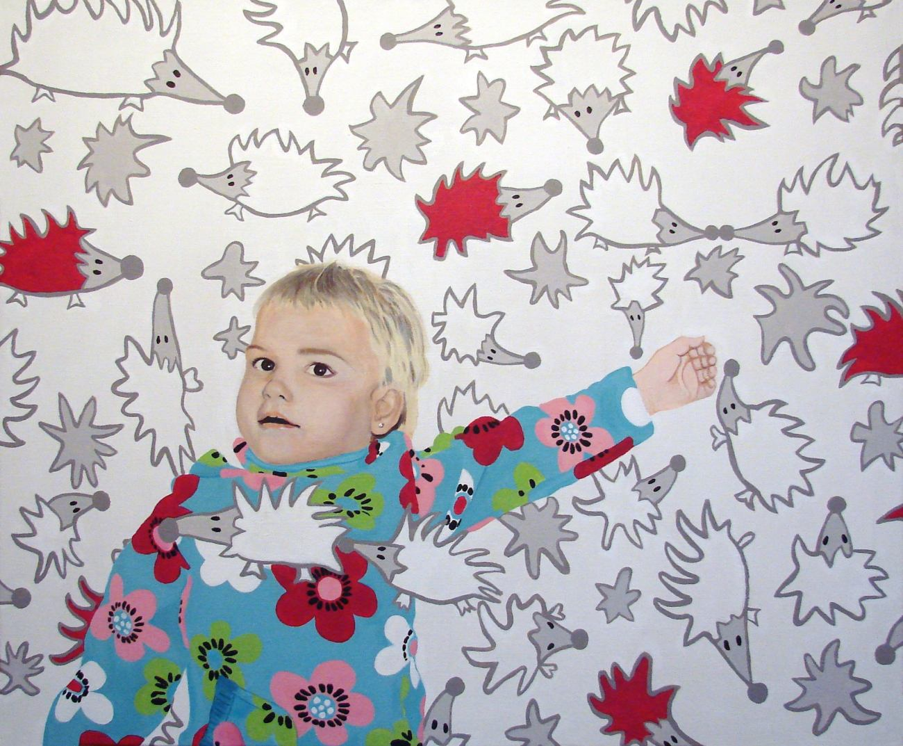 vánoční zakázka pro pana M.K., akryl na plátně, 100x120 cm, 2007