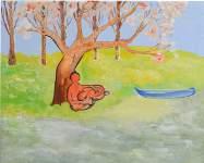Láska, akryl na plátně, 40x50 cm, 2011, Galerie výtvarných umění v Hodoníně