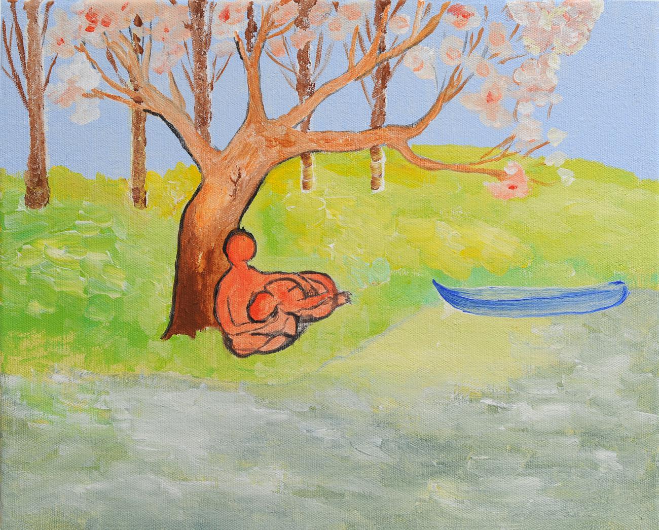 Jan Karpíšek: Love, acryl on canvas, 40x50 cm, 2011, Gallery of Visual Arts in Hodonín