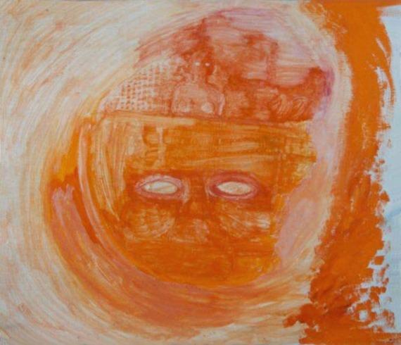 olej na překližce, 43x50 cm, 2001