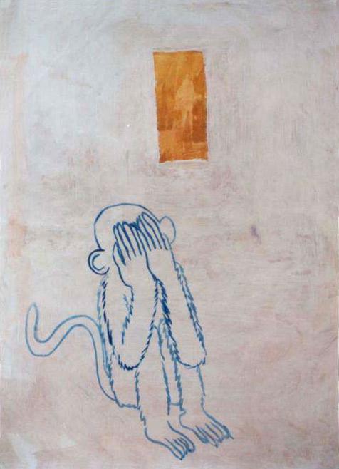 tempera na papíře, 83x60 cm, 2001