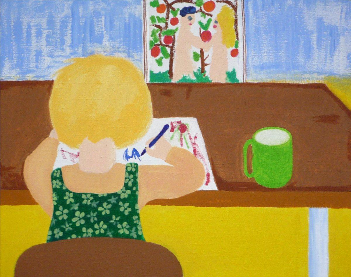Jan Karpíšek: The Normal Childhood, acryl on canvas, 55x70 cm, 2008