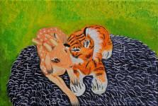 Miláčci, akryl na plátně, 40x60 cm, 2011