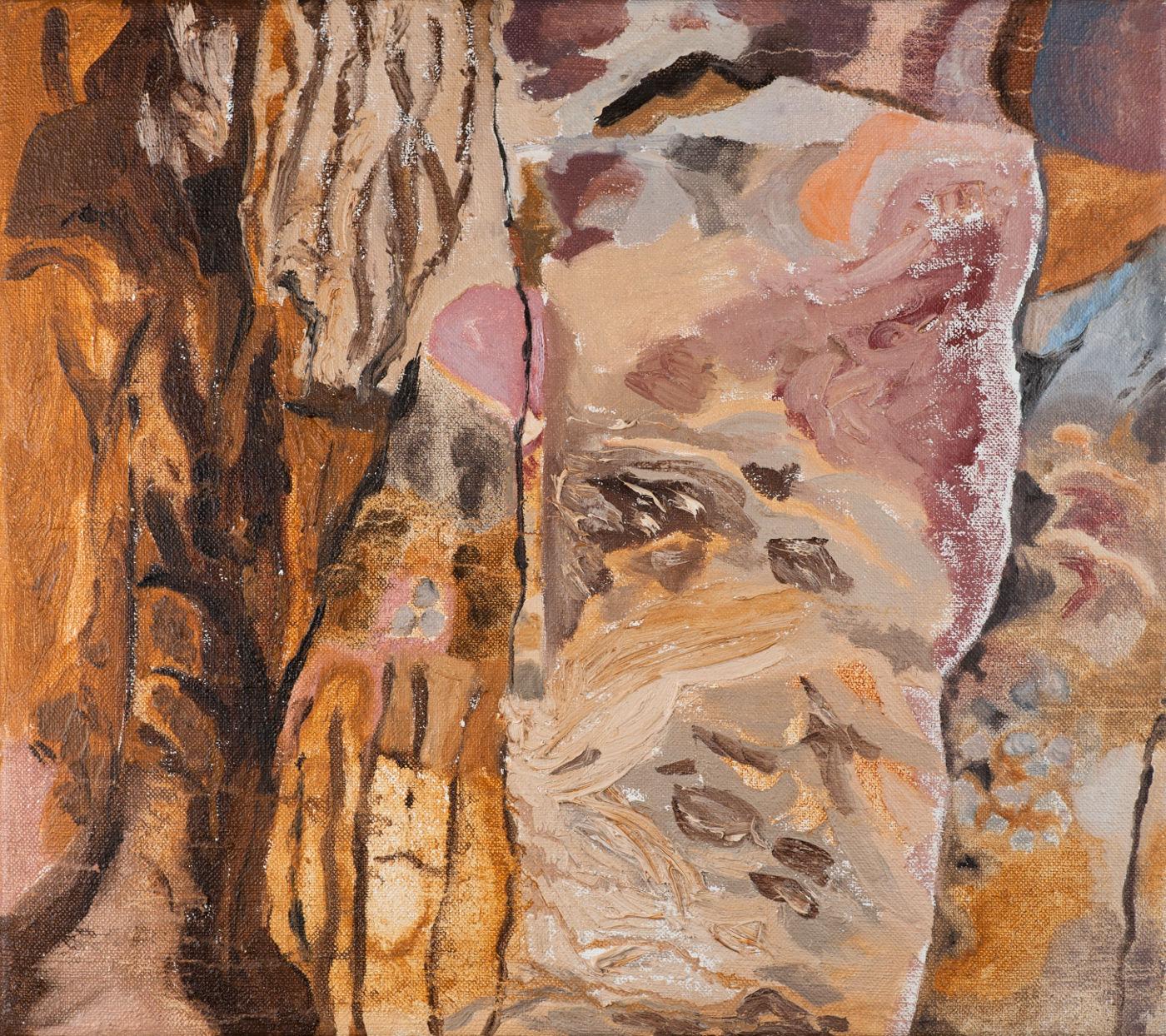 Jan Karpíšek: The Portrait of Mr. Píro's Rock, oil on canvas, 40x45 cm, 2012