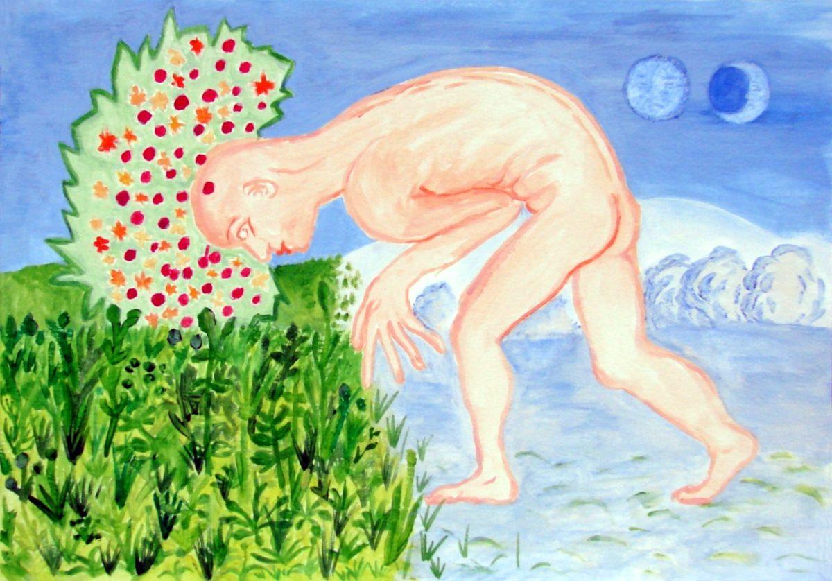 akvarel na papíře, 21x29 cm, 2006