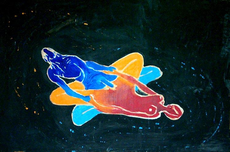 olej na sololitu, 45x68 cm, 2001