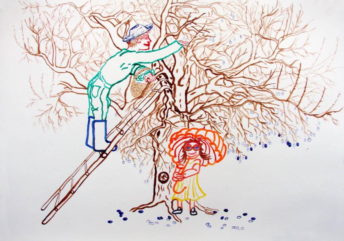 akvarel na papíře, 49x70 cm, 2007