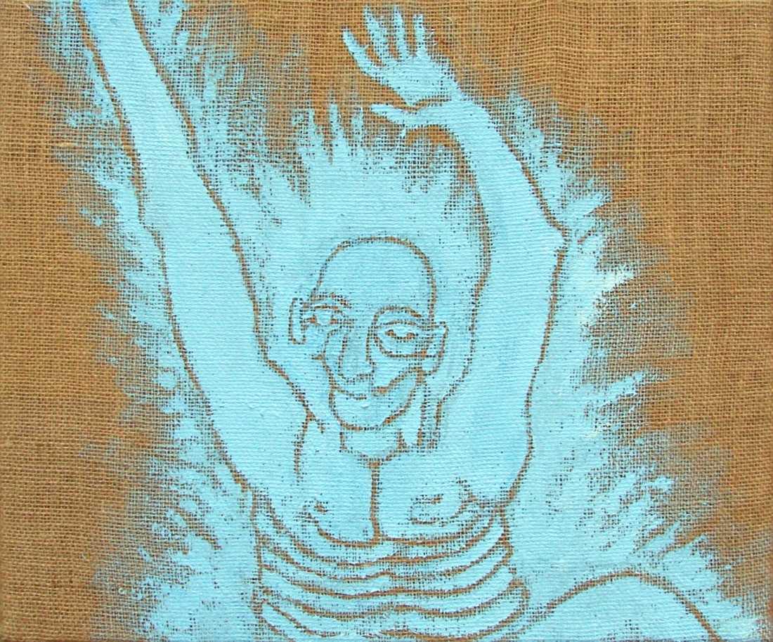 akryl na jutě, 46x55 cm, 2007, soukromá sbírka