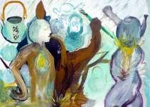 Čajová konvice (Pozornost), akvarel na papíře, 25x35 cm, 2006