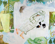 V kabátě, olej a akryl na plátně, 80x100 cm, 2013