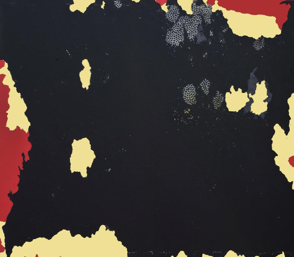 včelí interakce / barevné papíry, 70x80 cm, 2018