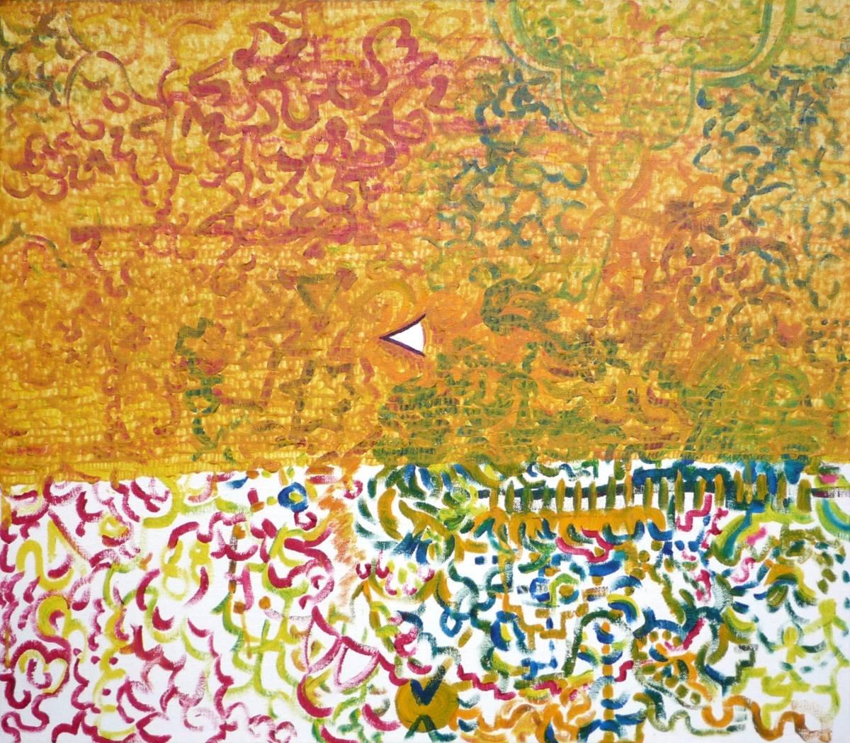 Jan Karpíšek: Vidění, akryl na plátně, 70x80 cm, 2008