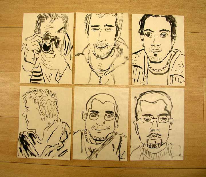tuš na papíře, 20x15 cm, 2004