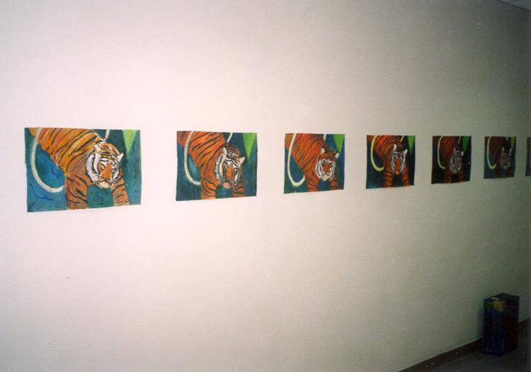 tempera na papíře, 2002