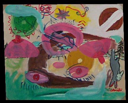 akryl na papíře, 7. klauzury (leden 2003)