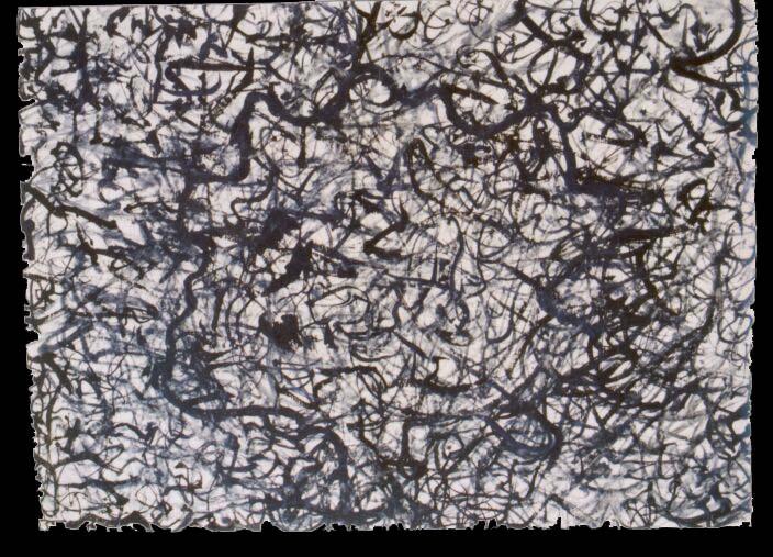 olej na papíře, 62x85 cm, 2001