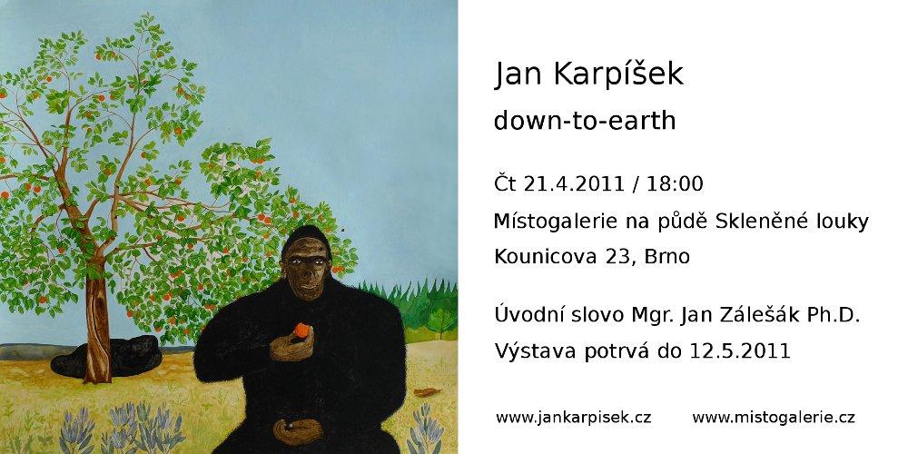 Jan Karpíšek - down-to-earth, Místogalerie, Brno, 21.4.-12.5.2011