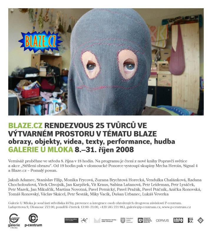 Jan Karpíšek, výstava skupiny Blaze, 8.10.2008, Galerie U mloka, Olomouc