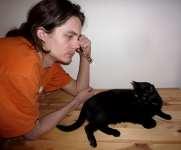 Jan a kočka, Soběšice, duben 2009