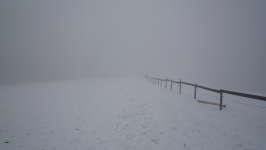 Mlha, sníh a zima, Soběšice, leden 2009
