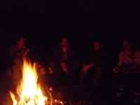 Narozeninový oheň na zahradě, Soběšice, 15.3.2009