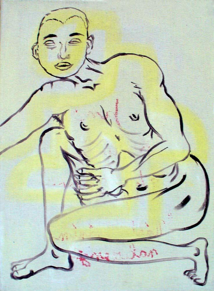 akryl na plátně, 56x43 cm, 2005