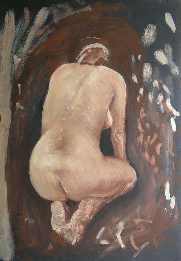 Zadek, olej na papíře, 2004