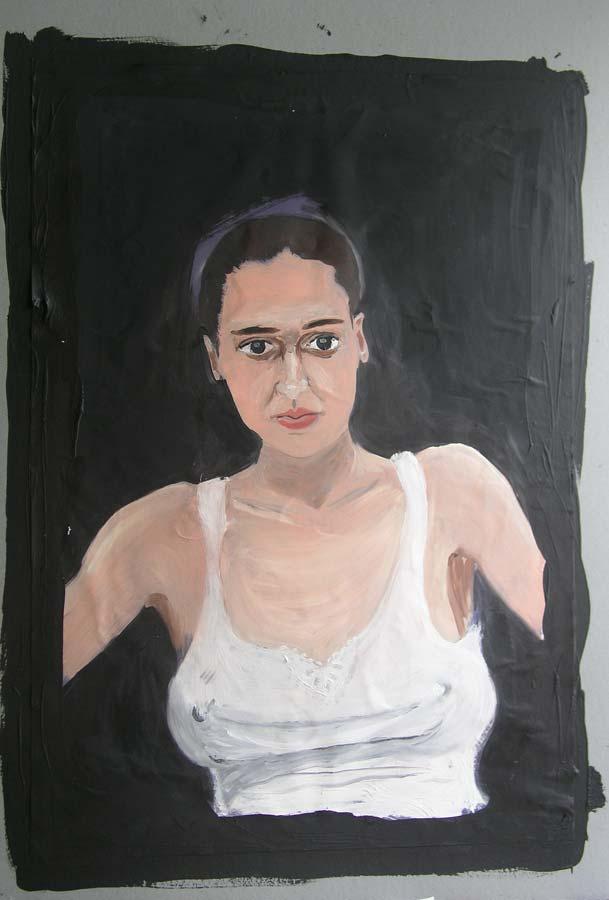 Zuzana č.1, olej na papíře, 2004