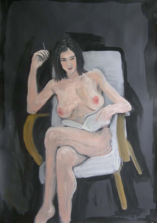 Zuzana č.2, olej na papíře, 2004