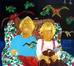 Vrány, olej na plátně, 2000