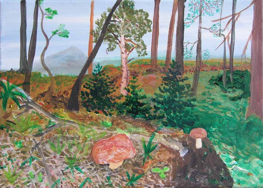 Vánoční dárek pro tatínka, akryl na plátně, 25x40 cm, 2003