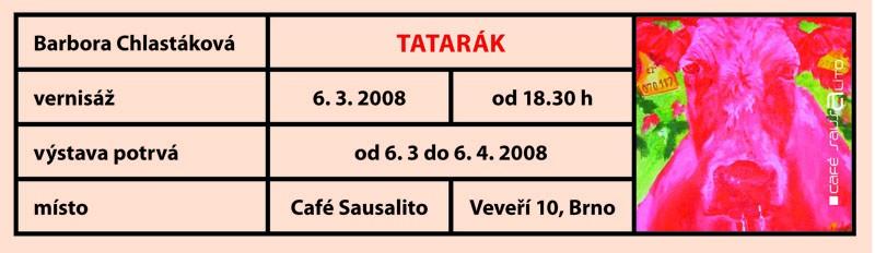 Barbora Chlastáková, Tatarák, Café Sausalito, 2008
